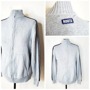 ROOTS 100% Cotton Grey Zipped Sweater